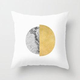 Sun and Moon, abstract, geometric, moon series 2 Throw Pillow