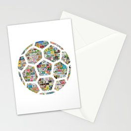 Philately Soccer Ball Stationery Cards