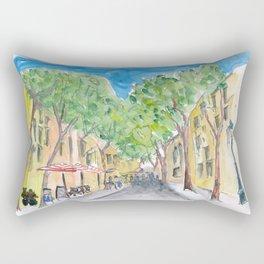 Barcelona Morning Walk at La Rambla Rectangular Pillow
