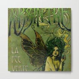 Vintage Parisian Green Fairy Absinthe Alcoholic Aperitif Advertisement Poster Metal Print