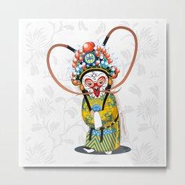 Beijing Opera Character   Monkey King Metal Print