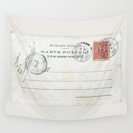 Vintage postcard with stamp sent from Chateau dun, France in early 1900s  Wall Tapestry