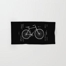 Vintage Bicycle Patent Black Hand & Bath Towel