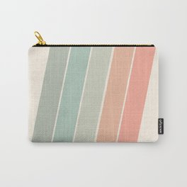 Trippin' - retro 70s socal minimal striped abstract art california surfing vintage Carry-All Pouch