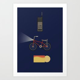 Iconic TV Shows: The One with the Upside Down Art Print