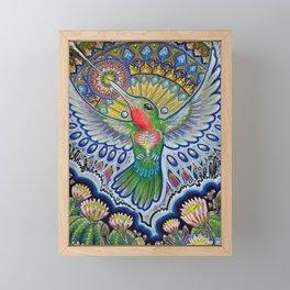 Hummingbird & Cactus - Beija Flor III Framed Mini Art Print