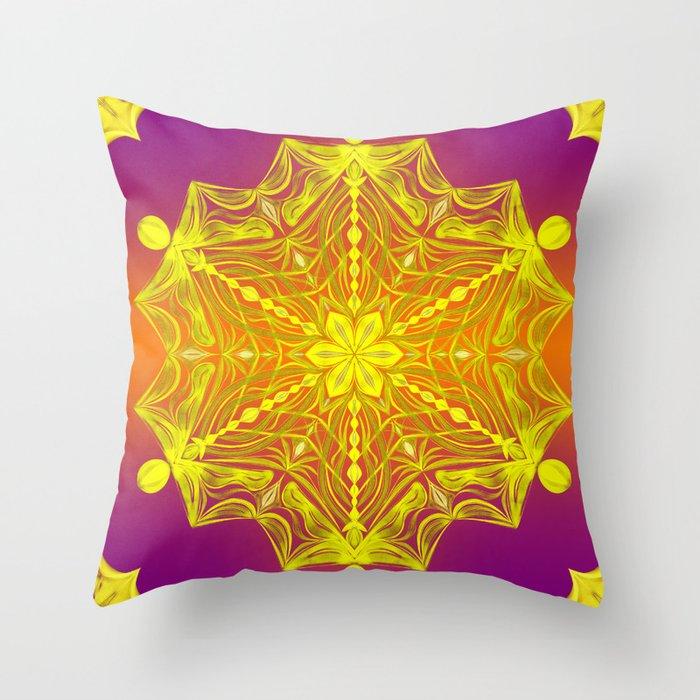 Snowflake Sunset Throw Pillow
