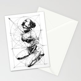 Restrained In Geometry. ©Yury Fadeev Stationery Cards