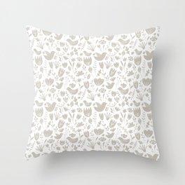 Scandi Pantone moonbeam Throw Pillow