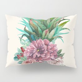 Floral Pineapple Pillow Sham