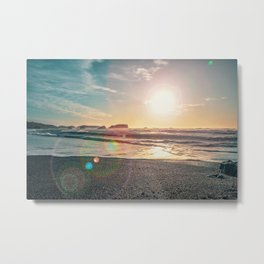 Sunny Day at the Beach  Metal Print