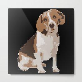 Four Legged Dog Pet Pixel Art Metal Print