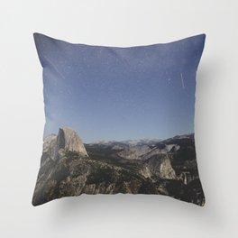 Yosemite at Night Throw Pillow