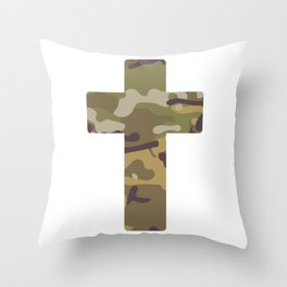 Cross Camouflage Symbol Gift Throw Pillow
