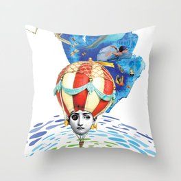 On the other side of the mirror Throw Pillow