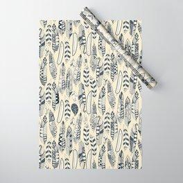 joyful feathers cream Wrapping Paper