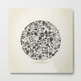 Medicine a sphere Metal Print