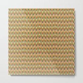 Vintage Chevron ( zigzag background) Metal Print