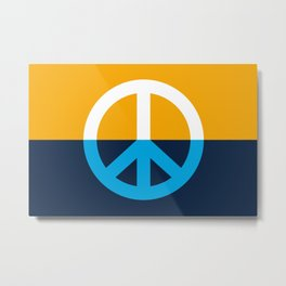 Peace Symbol - People's Flag of Milwaukee Metal Print