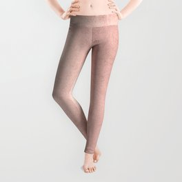 Blush Rose Gold Ombre  Leggings