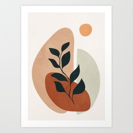 Soft Shapes II Art Print