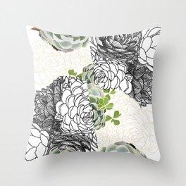 Succulent Study  Throw Pillow