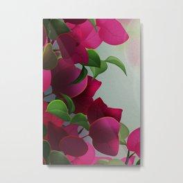 Pink Flower Fairy Metal Print