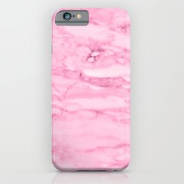 Hollywood Pink Faux Marble iPhone Case