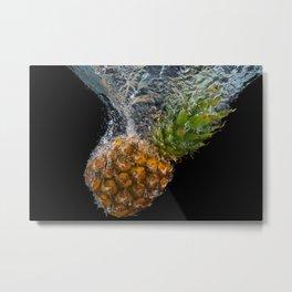 Sinking pineapple Metal Print
