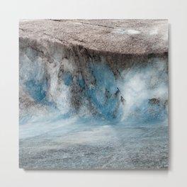 Alaskan Tiers of Exotic Blue Ice Crystals Glacier Metal Print