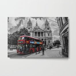 Red Bus London Metal Print