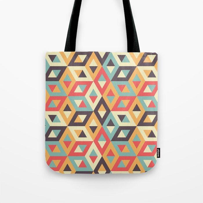 Pastel Geometric Pattern Tote Bag