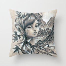 Nao-Ki Throw Pillow