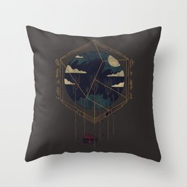 The Dark Woods Throw Pillow