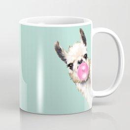 Bubble Gum Sneaky Llama in Green Kaffeebecher