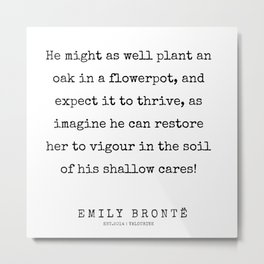 68  | 200211 | Emily Bronte Quotes | Metal Print