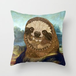 Sloth Lisa Throw Pillow