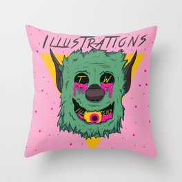 Sick Puppy Throw Pillow