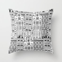 Amsterdam Houses Throw Pillow