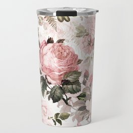 Vintage & Shabby Chic - Sepia Pink Roses  Travel Mug