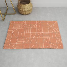 My Favorite Geometric Patterns No.5 - Coral Rug