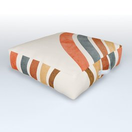 Abstract Rainbow 88 Outdoor Floor Cushion