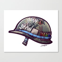 Born To Draw Canvas Print