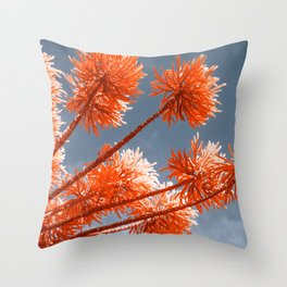 red tree infrared photography Throw Pillow