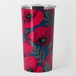 Night poppy garden  Travel Mug