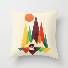 Bear In Whimsical Wild Throw Pillow
