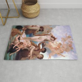 The Birth of Venus by William Adolphe Bouguereau Rug