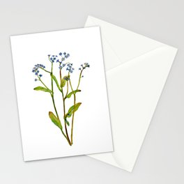 Forget-me-not flowers watercolor art Stationery Cards