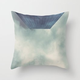 cloudy skyline Throw Pillow