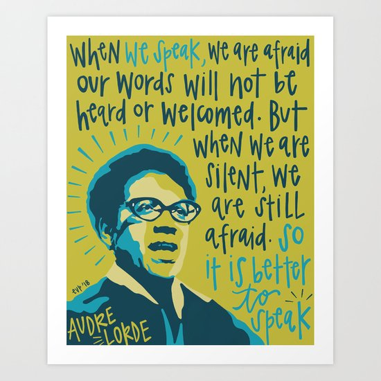 Audre Lorde. by emilyvpcreates